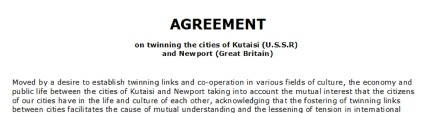 Click on image to enlarge the twinning agreement