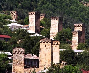 Svanetian towers, Georgia.